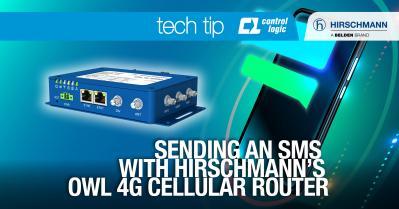 Sending an SMS with Hirschmann's OWL 4G Cellular Router
